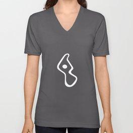 Whimsy (type 1) - White Unisex V-Neck