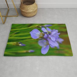 Siberian Iris by Teresa Thompson Rug