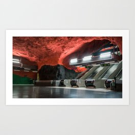 Solna Centrum Metro Station in Stockholm, Sweden VI Art Print