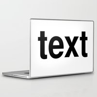 text Laptop & iPad Skins featuring text by linguistic94