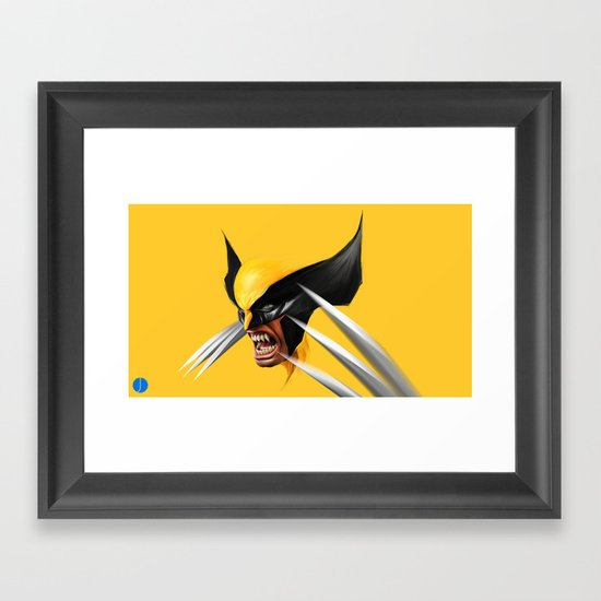 BLACK AND YELLOW Framed Art Print