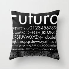 Futura (White) Throw Pillow