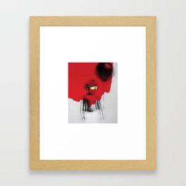 kids red Framed Art Print