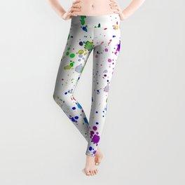 Colorful mess || watercolor Leggings