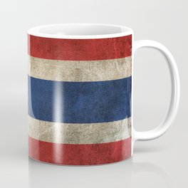 Old and Worn Distressed Vintage Flag of Thailand Coffee Mug