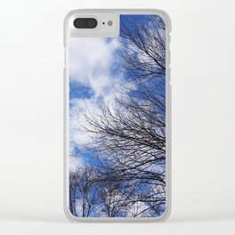 Reaching for the clouds Clear iPhone Case