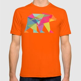 Fractal Bear - neon colorways T-shirt