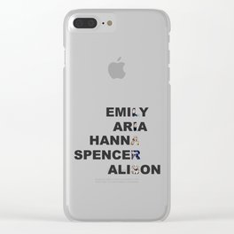 Pretty Little Liars - Girls Name Acrostic Clear iPhone Case