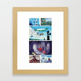 Around The World Framed Art Print