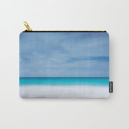 Tropical paradise beach turquoise sea ocean nature travel hipster Caribbean Fiji horizon photograph Carry-All Pouch