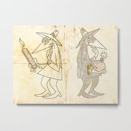 Spy vs. Spy Metal Print