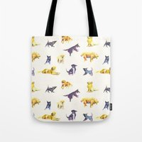 puppies Tote Bags featuring Puppies! by ascaliers