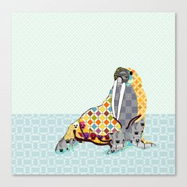 W is for Walrus Canvas Print