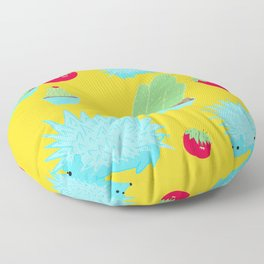 Prickly Things Print Yellow Floor Pillow