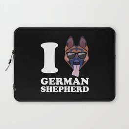 I Love German Shepherd modern v2 Laptop Sleeve