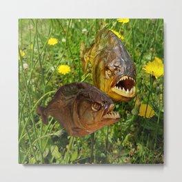 Crazyfish Alarm Metal Print