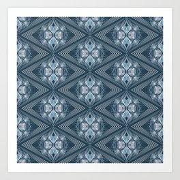 Blue ornament 1 Art Print