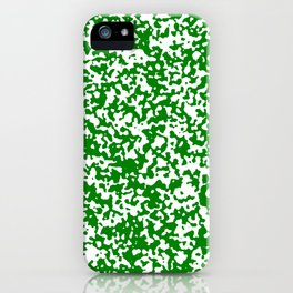 Small Spots - White and Green iPhone Case