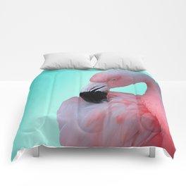 Pink Flamingo Comforters