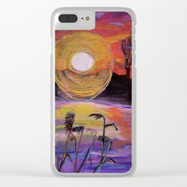 lake in rushes Clear iPhone Case