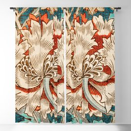 Honeysuckle (1876) by William Morris, Abstract I Poster Blackout Curtain