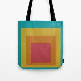 Block Colors - Teal Yellow Red Tote Bag