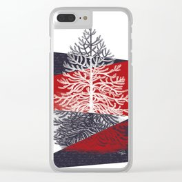 Tree Silhouette II Clear iPhone Case