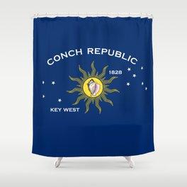 Conch Republic Flag Shower Curtain