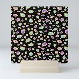 Colored diamonds (black) Mini Art Print