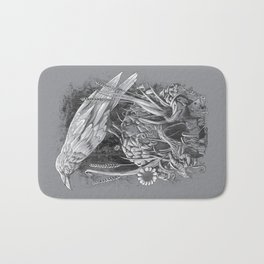 White Raven Bath Mat