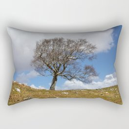 A single tree, Dumfries and Galloway Rectangular Pillow