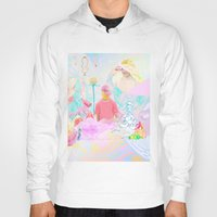 rave Hoodies featuring PINK RAVE by Haiku Felix