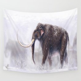 Mammuthus Primigenius Finished Wall Tapestry