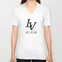 lv V-neck T-shirts featuring LV by Joe Alexander