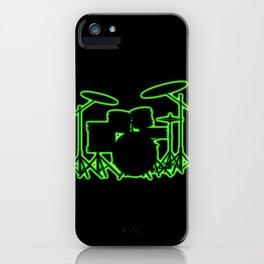 Neon Drum Kit iPhone Case