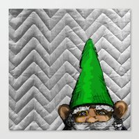 gnome Canvas Prints featuring Gnome by FeralEva