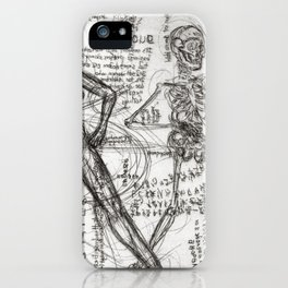 Clone Death - Intaglio / Printmaking iPhone Case
