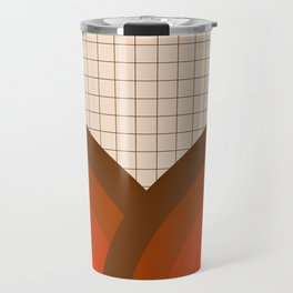 Tan Gridlines Travel Mug