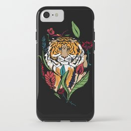 Floral Tiger iPhone Case