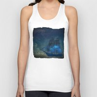 ships Tank Tops featuring Ships and Stars by Amanda Royale