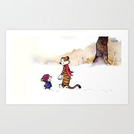 Calvin and Hobbes Winter Art Print