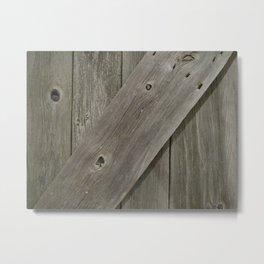 Barn Board Door Metal Print