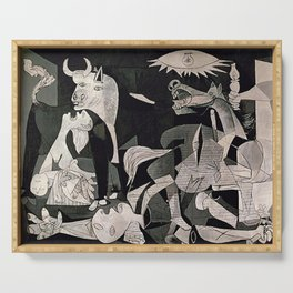GUERNICA #1 - PABLO PICASSO Serving Tray