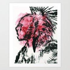 Native American Monotype Art Print