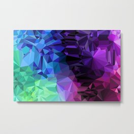 Crazy Crystals Metal Print