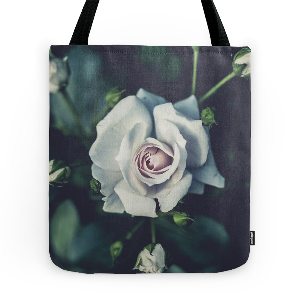 Flower - Rose - White Tote Purse by photoshop (TBG7683417) photo