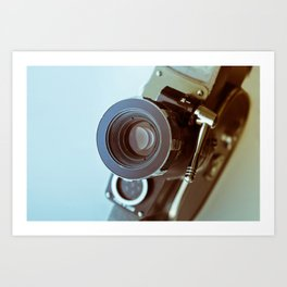 Vintage old movie Super-8 camera Art Print