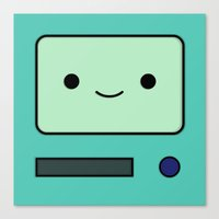 bmo Canvas Prints featuring BMO by Expired Kimchi