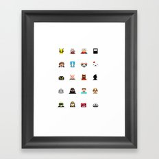 Indie Game Pixels Framed Art Print