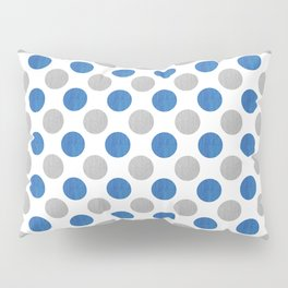 Blue Gray Dots Pattern Pillow Sham
